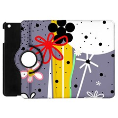 Flowers Apple iPad Mini Flip 360 Case