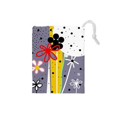 Flowers Drawstring Pouches (Small)