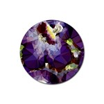 Purple Abstract Geometric Dream Rubber Round Coaster (4 pack)  Front