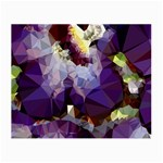 Purple Abstract Geometric Dream Small Glasses Cloth (2-Side) Front
