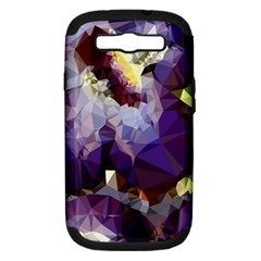 Purple Abstract Geometric Dream Samsung Galaxy S Iii Hardshell Case (pc+silicone)