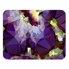 Purple Abstract Geometric Dream Double Sided Flano Blanket (large)