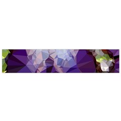 Purple Abstract Geometric Dream Flano Scarf (small)