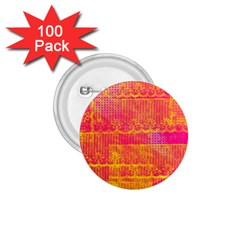 Yello And Magenta Lace Texture 1 75  Buttons (100 Pack)