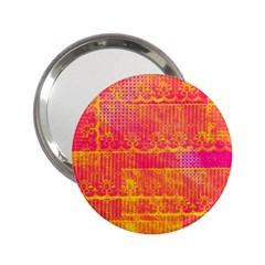 Yello And Magenta Lace Texture 2 25  Handbag Mirrors