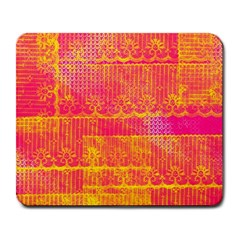 Yello And Magenta Lace Texture Large Mousepads