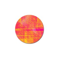 Yello And Magenta Lace Texture Golf Ball Marker
