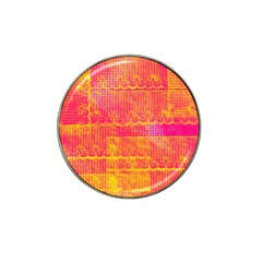Yello And Magenta Lace Texture Hat Clip Ball Marker (4 Pack)