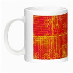 Yello And Magenta Lace Texture Night Luminous Mugs