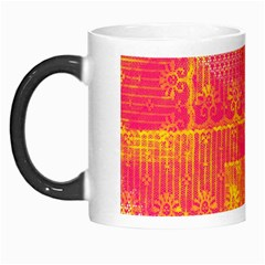 Yello And Magenta Lace Texture Morph Mugs