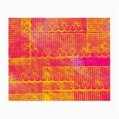 Yello And Magenta Lace Texture Small Glasses Cloth