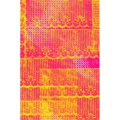 Yello And Magenta Lace Texture 5 5  X 8 5  Notebooks