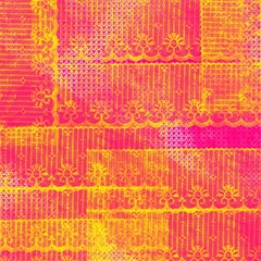 Yello And Magenta Lace Texture Magic Photo Cubes