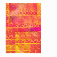 Yello And Magenta Lace Texture Large Garden Flag (two Sides)