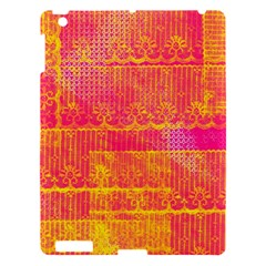 Yello And Magenta Lace Texture Apple Ipad 3/4 Hardshell Case