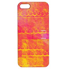 Yello And Magenta Lace Texture Apple Iphone 5 Hardshell Case With Stand