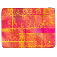 Yello And Magenta Lace Texture Samsung Galaxy Tab 7  P1000 Flip Case
