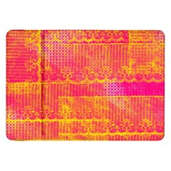 Yello And Magenta Lace Texture Samsung Galaxy Tab 8 9  P7300 Flip Case