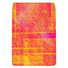 Yello And Magenta Lace Texture Flap Covers (l)