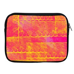 Yello And Magenta Lace Texture Apple Ipad 2/3/4 Zipper Cases