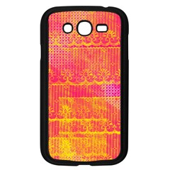 Yello And Magenta Lace Texture Samsung Galaxy Grand Duos I9082 Case (black)