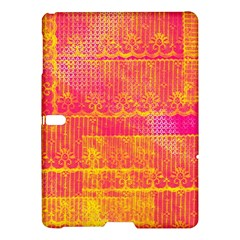 Yello And Magenta Lace Texture Samsung Galaxy Tab S (10 5 ) Hardshell Case