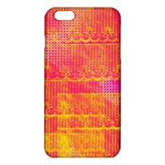 Yello And Magenta Lace Texture Iphone 6 Plus/6s Plus Tpu Case