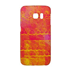 Yello And Magenta Lace Texture Galaxy S6 Edge