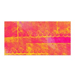 Yello And Magenta Lace Texture Satin Wrap