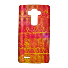 Yello And Magenta Lace Texture Lg G4 Hardshell Case