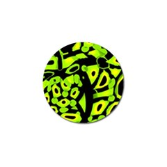 Green neon abstraction Golf Ball Marker (4 pack)