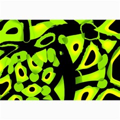 Green neon abstraction Collage Prints