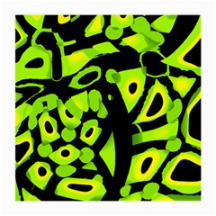 Green neon abstraction Medium Glasses Cloth (2-Side)