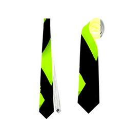 Green neon abstraction Neckties (Two Side)