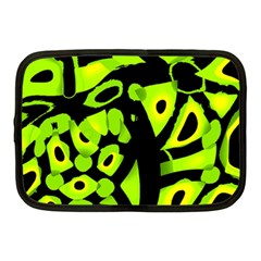 Green neon abstraction Netbook Case (Medium)
