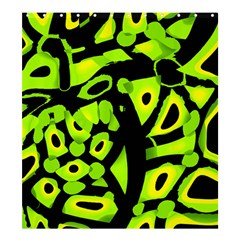 Green neon abstraction Shower Curtain 66  x 72  (Large)