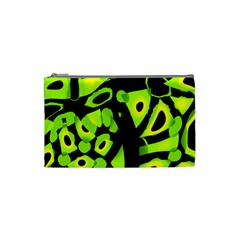Green neon abstraction Cosmetic Bag (Small)