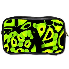 Green neon abstraction Toiletries Bags 2-Side