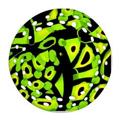 Green neon abstraction Ornament (Round Filigree)