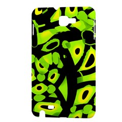 Green neon abstraction Samsung Galaxy Note 1 Hardshell Case
