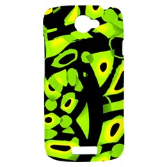 Green neon abstraction HTC One S Hardshell Case