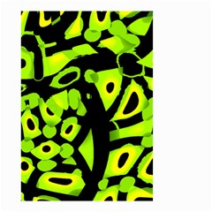 Green neon abstraction Small Garden Flag (Two Sides)