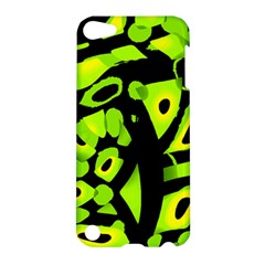 Green neon abstraction Apple iPod Touch 5 Hardshell Case