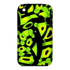 Green neon abstraction Apple iPhone 3G/3GS Hardshell Case (PC+Silicone)
