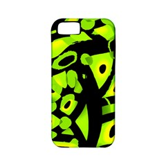 Green neon abstraction Apple iPhone 5 Classic Hardshell Case (PC+Silicone)