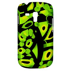 Green neon abstraction Samsung Galaxy S3 MINI I8190 Hardshell Case