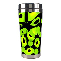Green neon abstraction Stainless Steel Travel Tumblers