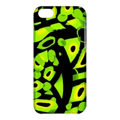Green neon abstraction Apple iPhone 5C Hardshell Case