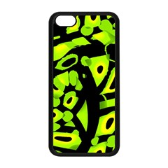 Green neon abstraction Apple iPhone 5C Seamless Case (Black)