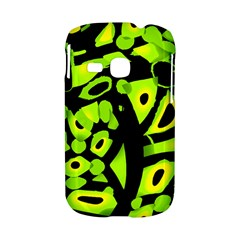 Green neon abstraction Samsung Galaxy S6310 Hardshell Case